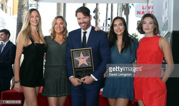Harry Connick Jr and Georgia Tatum Connick Jill Goodacre Charlotte Connick and Sarah Kate Connick attend being as Connick is honored with a Star on...