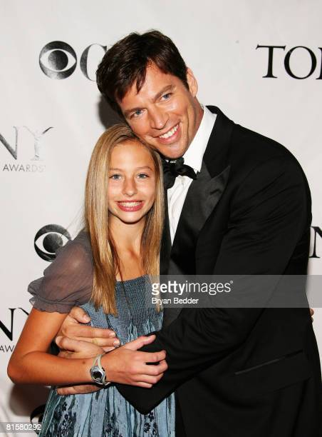 Harry Connick Jr and his daughter Georgia arrive at the 62nd Annual Tony Awards held at Radio City Music Hall on June 15 2008 in New York City