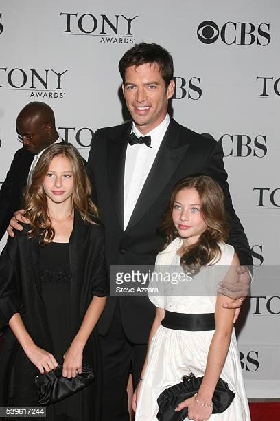 Harry Connick Jr and his daughters arrive for the 61st Annual Tony Awards at Radio City Music Hall in New York New York