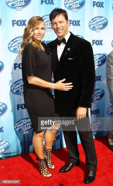 Harry Connick Jr and his wife Jill Goodacre arrive at Fox's American Idol XIII Finale held at Nokia Theatre LA Live on May 21 2014 in Los Angeles...