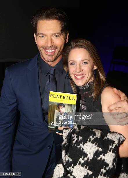 """Harry Connick Jr and Jessie Mueller pose backstage after the opening night performance of """"Harry Connick Jr - A Celebration Of Cole Porter"""" on..."""