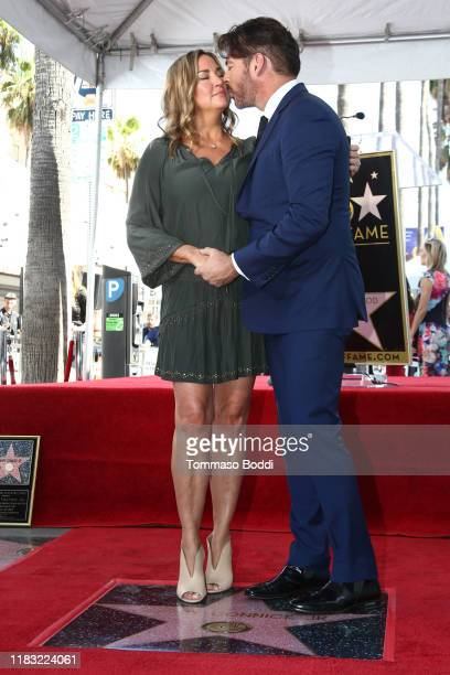 Harry Connick Jr and Jill Goodacre Connick attend a Ceremony Honoring Harry Connick Jr With Star On Hollywood Walk Of Fame on October 24 2019 in...