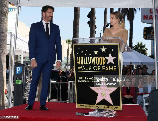 Harry Connick Jr. And Renee Zellweger attend his being honored with a Star on Hollywood Walk of Fame on October 24, 2019 in Hollywood, California.