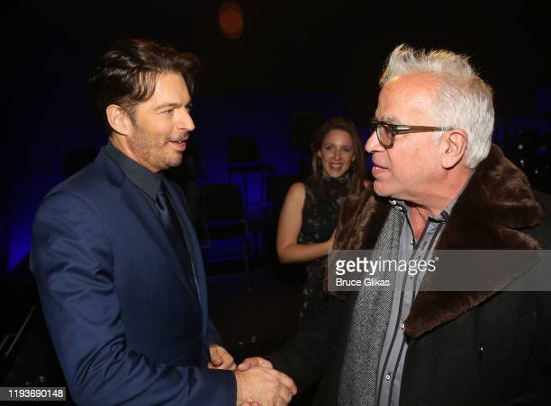 """Harry Connick Jr and Richard Jay-Alexander chat backstage after the opening night performance of """"Harry Connick Jr - A Celebration Of Cole Porter"""" on..."""