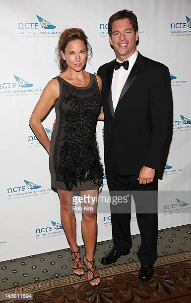 Harry Connick Jr and wife Jill Goodacre attend the 2012 National Corporate Theatre Fund Gala at The Pierre Hotel on April 30 2012 in New York City
