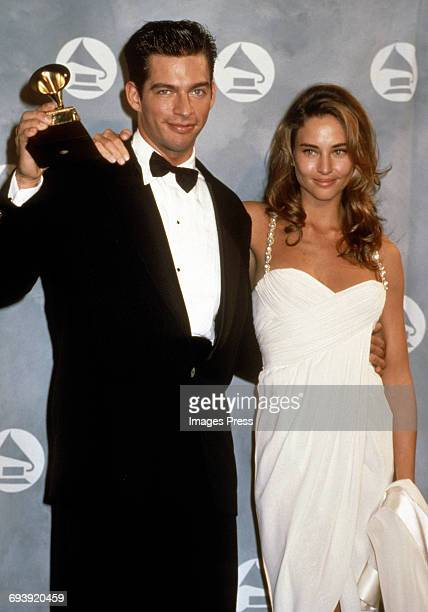 Harry Connick Jr and wife Jill Goodacre attend the 33rd Annual Grammy Awards circa 1991 in New York City