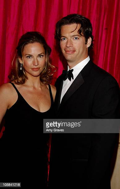 Harry Connick Jr and wife Jill Goodacre during Elton John AIDS Foundation's 11th Annual Oscar party cohosted by In Style and AOL in association with...