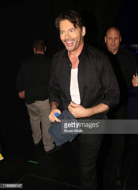 """Harry Connick Jr backstage after the opening night performance of """"Harry Connick Jr - A Celebration Of Cole Porter"""" on Broadway at The Nederlander..."""