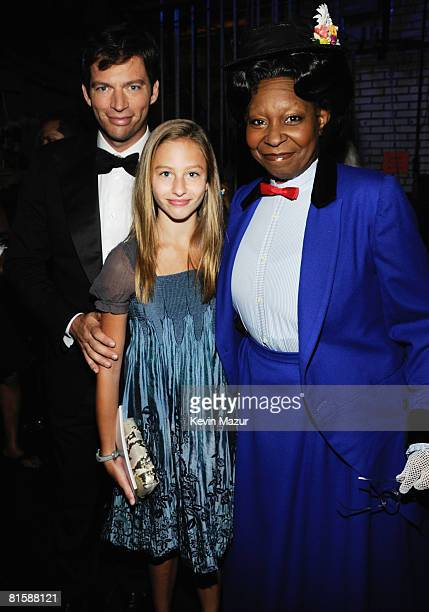 Harry Connick Jr daughter Georgia and host Whoopi Goldberg pose backstage during the 62nd Annual Tony Awards at Radio City Music Hall on June 15 2008...