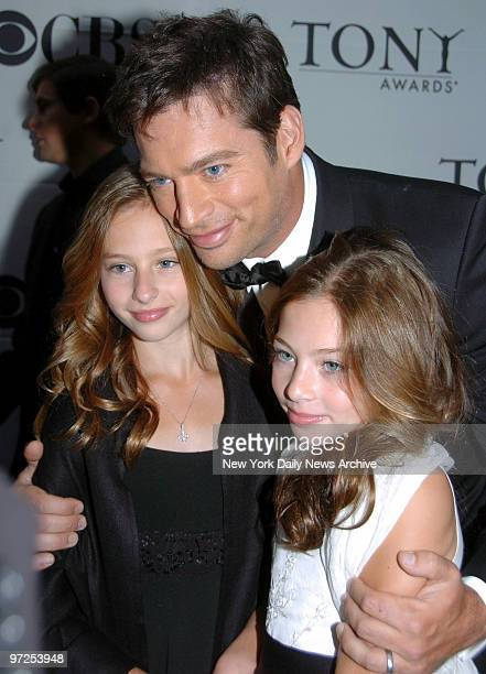 Harry Connick Jr daughters Georgia and Sara arrive at Radio City Music Hall for the 2007 Tony Awards