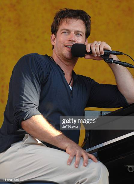 Harry Connick Jr during 38th Annual New Orleans Jazz Heritage Festival Presented by Shell Harry Connick Jr at New Orleans Fair Grounds in New Orleans...