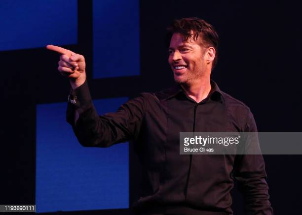 """Harry Connick Jr during the opening night curtain call for """"Harry Connick Jr - A Celebration Of Cole Porter"""" on Broadway at The Nederlander Theatre..."""