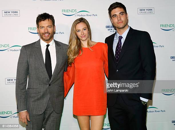 Harry Connick Jr Georgia Tatum Connick and guest attend the 2016 Friends Of Hudson River Park Gala at Hudson River Park's Pier 62 on October 13 2016...