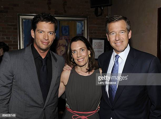 Harry Connick Jr Jane Stoddard Williams and Brian Williams attend Connick's Your Songs listening event on August 4 2009 in New York City