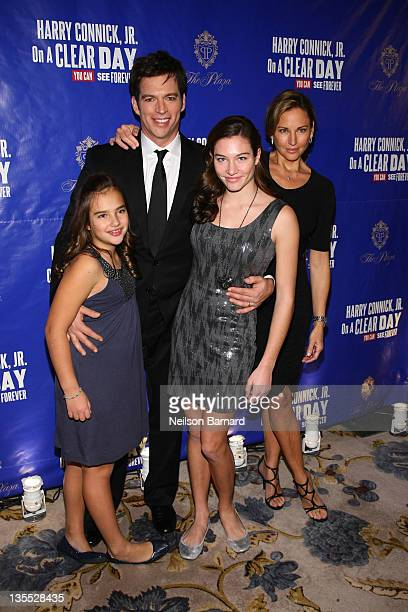 Harry Connick Jr Jill Goodacre and daughters Kate Connick and Charlotte Connick attend On a Clear Day You Can See Forever Broadway opening night...