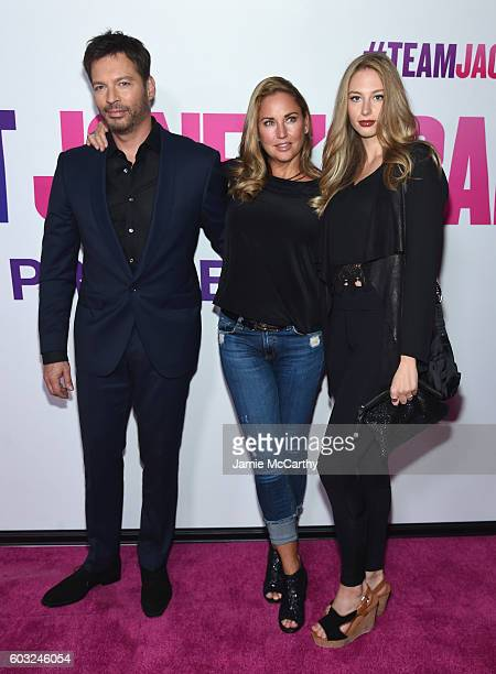 "Harry Connick Jr, Jill Goodacre and Georgia Tatum Connick attends the ""Bridget Jones Baby"" New York Premiere at Paris Theater on September 12, 2016..."