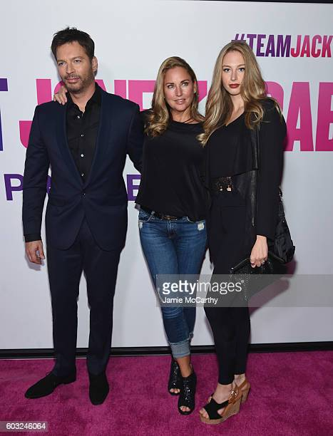Harry Connick Jr Jill Goodacre and Georgia Tatum Connick attends the Bridget Jones Baby New York Premiere at Paris Theater on September 12 2016 in...