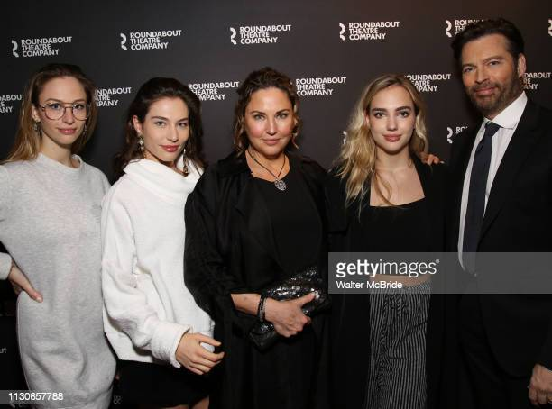 Harry Connick Jr Jill Goodacre Georgia Connick Sarah Connick Charlotte Connick attend the Broadway Opening Night of Kiss Me Kate at Studio 54 on...