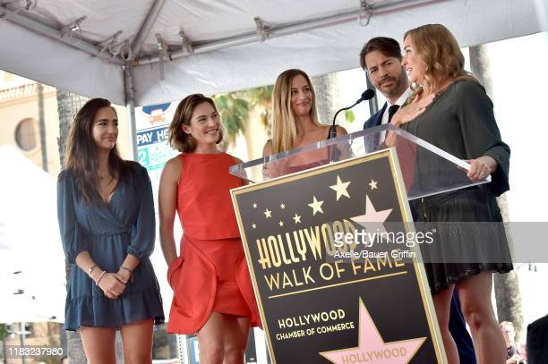 Harry Connick Jr Jill Goodacre Georgia Tatum Connick Sarah Kate Connick and Charlotte Connick attend the ceremony honoring Harry Connick Jr with star...