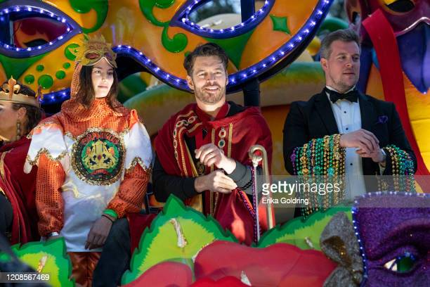Harry Connick, Jr. Leads the 2020 Krewe of Orpheus parade that takes place on the traditional Uptown parade route on February 24, 2020 in New...