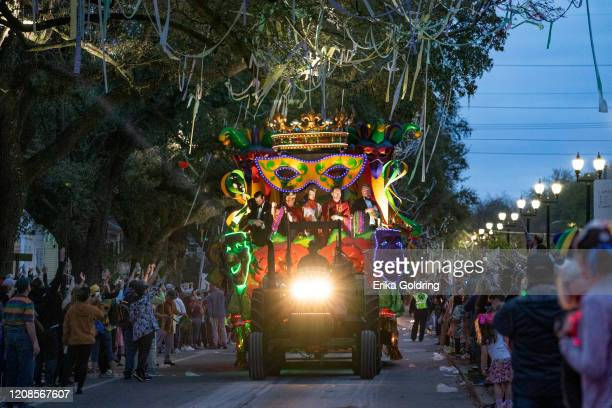 Harry Connick, Jr., leads the 2020 Krewe of Orpheus parade that takes place on the traditional Uptown parade route on February 24, 2020 in New...