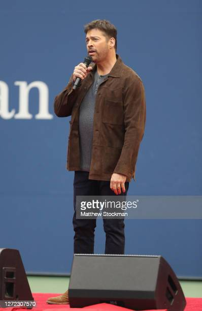 """Harry Connick Jr. Performs """"America the Beautiful"""" before the Men's Singles final match on Day Fourteen of the 2020 US Open at the USTA Billie Jean..."""