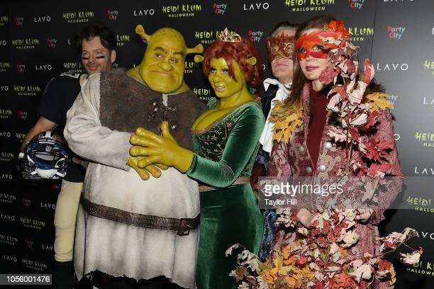 Harry Connick Jr Tom Kaulitz Heidi Klum Kyle MacLachlan and Desiree Gruber attend Heidi Klum's 19th Annual Halloween Party at Lavo on October 31 2018...