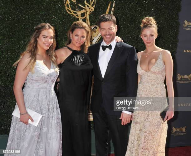 Harry Connick Jr wife Jill Goodacre and daughters arrive at the 44th Annual Daytime Emmy Awards at Pasadena Civic Auditorium on April 30 2017 in...