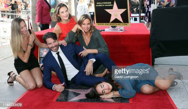 Harry Connick Jr wife Jill Goodacre and daughters Georgia Tatum Connick Sarah Kate Connick and Charlotte Connick attend as he is honored with a Star...