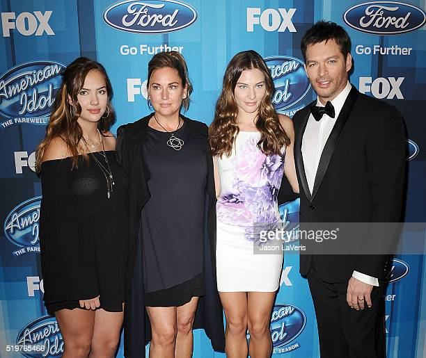 Harry Connick Jr wife Jill Goodacre and family attend FOX's American Idol finale for the farewell season at Dolby Theatre on April 7 2016 in...