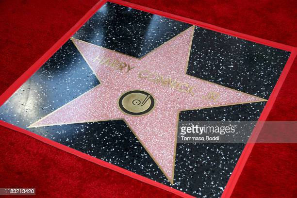 Harry Connick Jr.'s star is seen during a ceremony honoring him on the Hollywood Walk of Fame on October 24, 2019 in Hollywood, California.