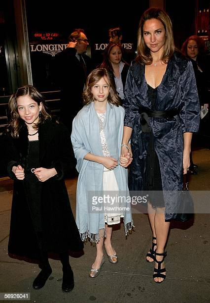 Harry Connick Jr's wife actress Jill Goodacre with her daughters Sara Kate and Gerogia Tatom attend the opening night of Roundabout Theatre Company's...
