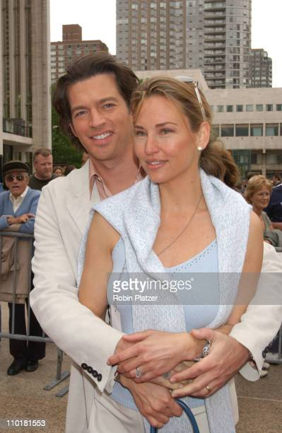 Harry Connick wife Jill during NBC 20032004 Upfront Arrivals at The Metropolitan Opera House in New York City New York United States