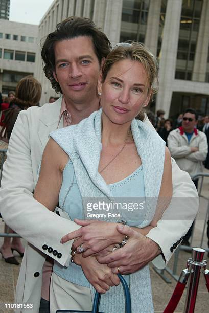 Harry Connick wife Jill Goodacre during NBC 20032004 Upfront Arrivals at The Metropolitan Opera House in New York City New York United States