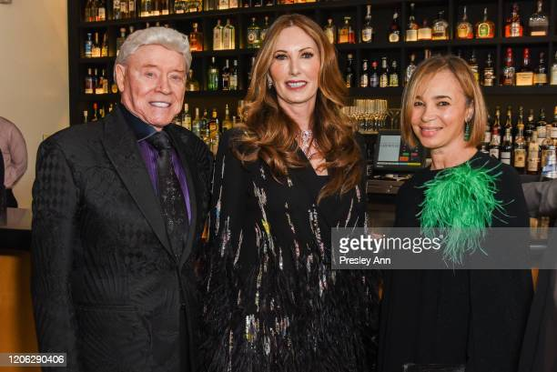Harry Cooper Valerie Cooper and Fiona Cibani attend Of Love And Rage Premiere Dinner Hosted By Elizabeth Segerstrom at Leatherby's Cafe Rouge on...