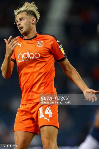 Harry Cornick of Luton Town during the Carabao Cup First Round match between West Bromwich Albion and Luton Town at The Hawthorns on August 14 2018...