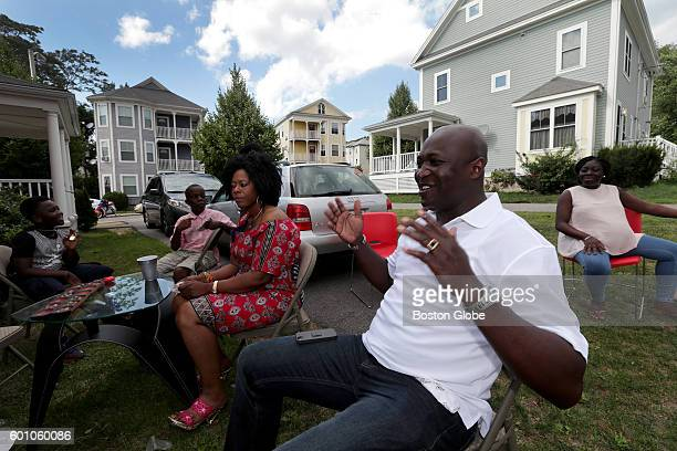 Harry Danso a royal chief from the Ashanti tribe in Ghana attended a cookout for a networking group of African Americans from his workplace Karl...