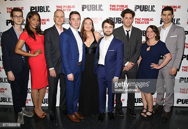Harry Davies De'Adre Aziza Michael Countryman James Graham Josie Rourke Daniel Radcliffe Reg Rogers Rachel Dratch and Raffi Barsoumian attends the...