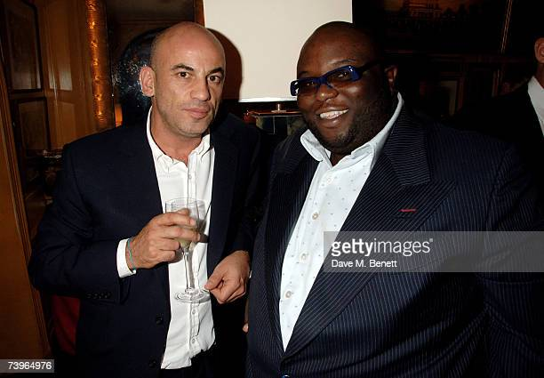 Harry Dellal and Ade attend private dinner and party hosted by fashion chain Issa at Annabel's on April 24 2007 in London England