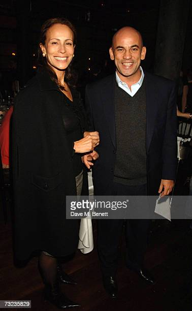Harry Dellal and Andrea Dellal attend the private dinner following the private view of George Condo's new paintings and sculptures on display at the...