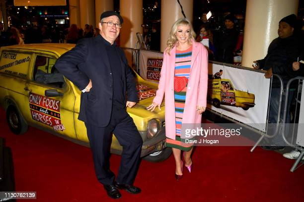 Harry Enfield and Helen George attend the opening night of Only Fools and Horses The Musical at Theatre Royal Haymarket on February 19 2019 in London...