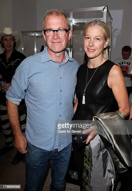 Harry Enfield and wife Lucy Lyster attend the launch of 'Black Market Clash' an exhibition of personal memorabilia and items curated by original...