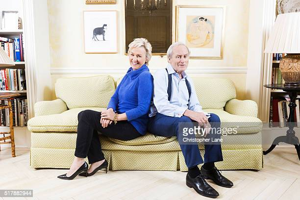 Harry Evans former editor of the Sunday Times and wife Tina Brown editor and author are photographed for Sunday Times magazine on December 6 2015 in...