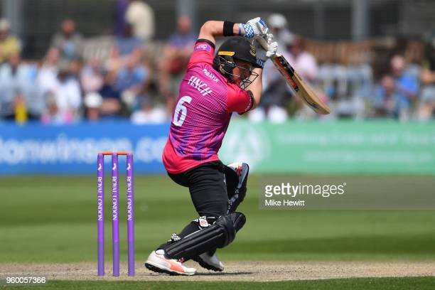 Harry Finch of Sussex hits out during the Royal London OneDay Cup match between Sussex and Hampshire at The 1st Central County Ground on May 19 2018...
