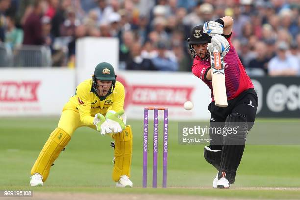 Harry Finch of Sussex Sharks in action during the one day tour match between Sussex and Australia at The 1st Central County Ground on June 7 2018 in...