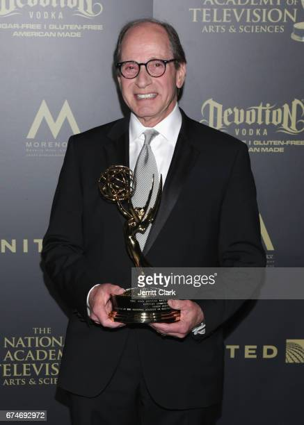 Harry Friedman poses with his Lifetime Achievement Emmy at the 44th Annual Daytime Creative Arts Emmy Awards - Press Room at Pasadena Civic...