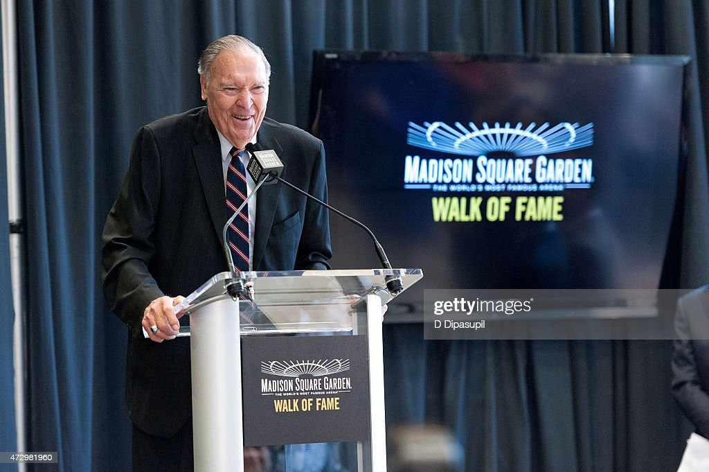 Harry Gallatin speaks onstage during the Madison Square Garden 2015 Walk Of Fame Inductions at Madison Square Garden on May 11, 2015 in New York City.