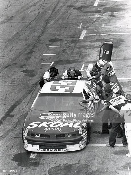 Harry Gant has to pit for fuel during the 150th lap of the Daytona 500 Gant would finish 12th and take home $30000 for the race