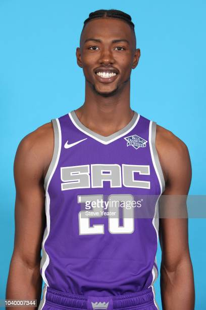 Harry Giles of the Sacramento Kings poses for a head shot at media day on September 24 2018 at the Golden 1 Center in Sacramento California NOTE TO...