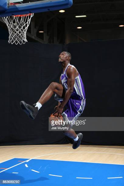Harry Giles of the Sacramento Kings poses for a photo during the 2017 NBA Rookie Shoot on August 11 2017 at the Madison Square Garden Training Center...
